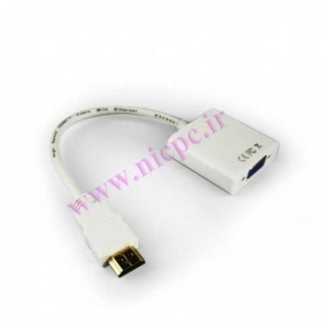 کابل مبدل HDMI به VGA بدون خروجی صدا