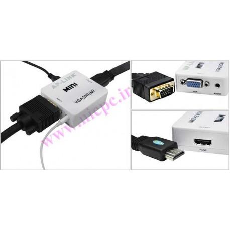 تبدیل (vga (RGB به HDMI (مبدل vga به hdmi )