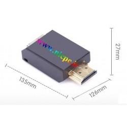 تبدیل HDMI به VGA با اندازه کوچک و بدون صدای خروجی