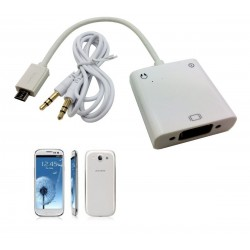 کابل mhl برای اتصال تبلت و موبایل به ویدیو پروژکتور و مانیتور (microusb به vga) برای سامسونگ های جدید Mhl